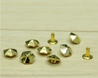 10mm 100pcs Umbrella Shape Rivet Pyramid Studs For Clothing Crafting,Shoes&Bags DIY Studs,Clothing Buttons