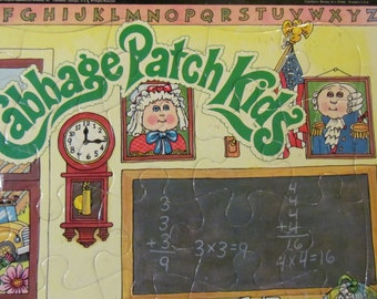 1983 Cabbage Patch Kids School Black Chalkboard Puzzleforms Jigsaw Puzzle