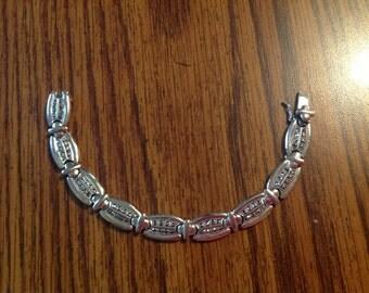 """Vintage 7 1/2"""" Sterling Silver Bracelet with Marcasite"""