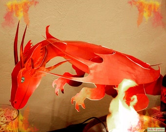 Dragon Birthday Party 3D Dragon Centerpiece Print At Home