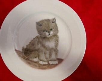 China Painted Dish of  on Vohenstrauus,Johann Seltman Bavarian China  1972, CAT
