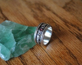 man's electronic design band ring