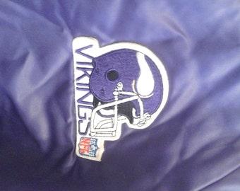 Vintage NFL Vikings Shiny Purple Satin Jacket