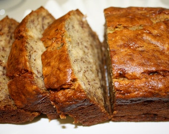 Banana Bread, homemade baked goods, homemade bread, baked goods