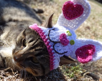 Bunny Cat Hat, Bunny Cat Costume, Bunny Hat for Cats, Easter Cat Hat, Easter Cat Costume, Bunny Costume for Cats, Easter Hat for Cats