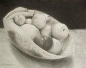 "Original drawing ""Fruit Vase"" by Anna Starkova"