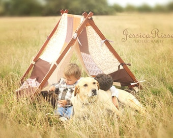 Patchwork Photography Prop Kids Photography Prop Children Photography Prop Tent Cover Brown Photo Prop Kids Photo Prop Play Tent Cover Brown