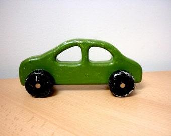 Scandinavian Primitive Wooden Toy Car, Home Decor Play Collect, Minimalist  Retro Vintage