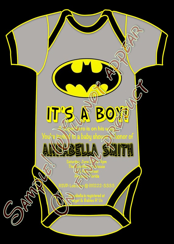Superhero Batman Baby Shower It's a Boy Party by CraftyHooves