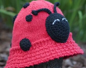 Ladybug AniFloppyHat (Knit Floppy Hat)