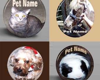 BUTTON - Custom Pet Magnet - 2.25 Inch Round