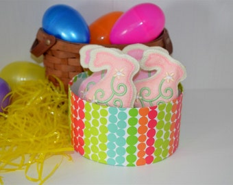 Felt Easter Bunny Cookies (set of 4)