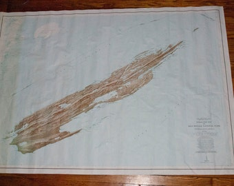 1970's Topographic Map of Isle Royale