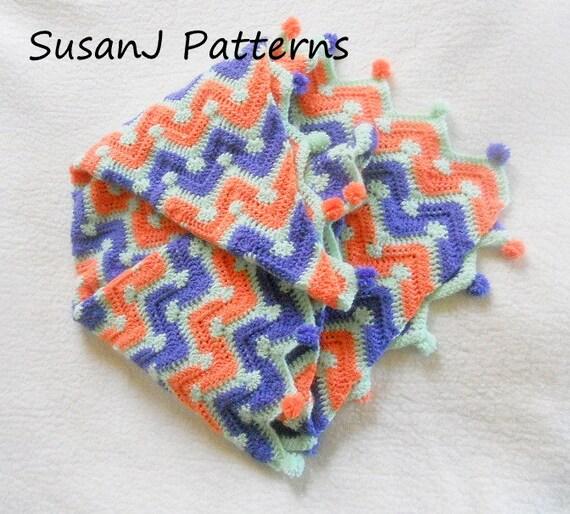 Crochet Chevron Baby Dress Pattern : Crochet Pattern Baby Chevron Afghan