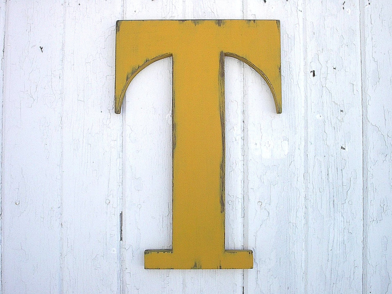 wooden letters t 18 rustic shabby chic dorm decor. Black Bedroom Furniture Sets. Home Design Ideas