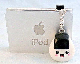 Kawaii Onigiri Dust Plug, For iPhone or iPod, Cute :D