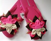 Girls flip flops/toddler sandals/baby girl flip flop size 1-2
