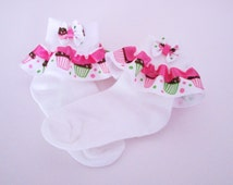 baby girl ruffle socks,toddler ribbon ruffle socks,