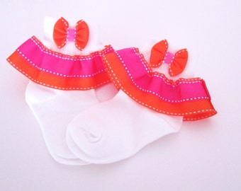 girls ruffle socks, childen dressing socks