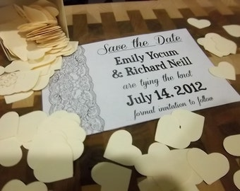 save the date lace