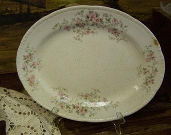 Farmhouse Platter Homer Laughlin Platter Shabby Platter