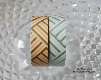 MT Geometric Diagonal Stripes Set of 2