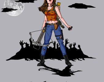 I survive Warrior Woman Zombie shirt