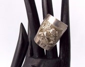 Vintage Silver ring from China with Foo Dog