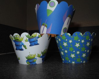 Toy Story Buzz Lightyear Cupcake Wrappers  Set of 12 Toy Story Aliens