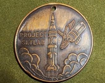 Vintage Project Skylab I Coin, Medal, Medallion, brass or bronze,