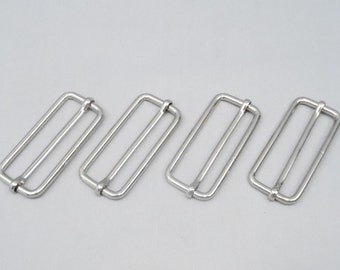 20 Silver 2 Inch (51mm) Strap Adjusters / Buckles / Sliders