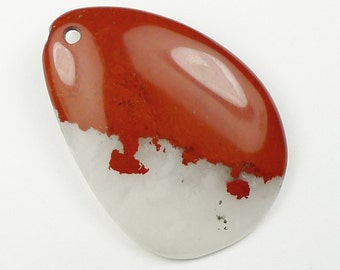Red River Jasper Pendant Bead - 51x36x5mm