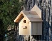 Outdoor Cedar Birdhouse, Functional, Handcrafted