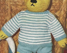 Knitting Pattern For Teddy Bear Clothes : Popular items for toy knitting pattern on Etsy