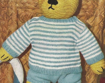 Teddy bear to knit Etsy