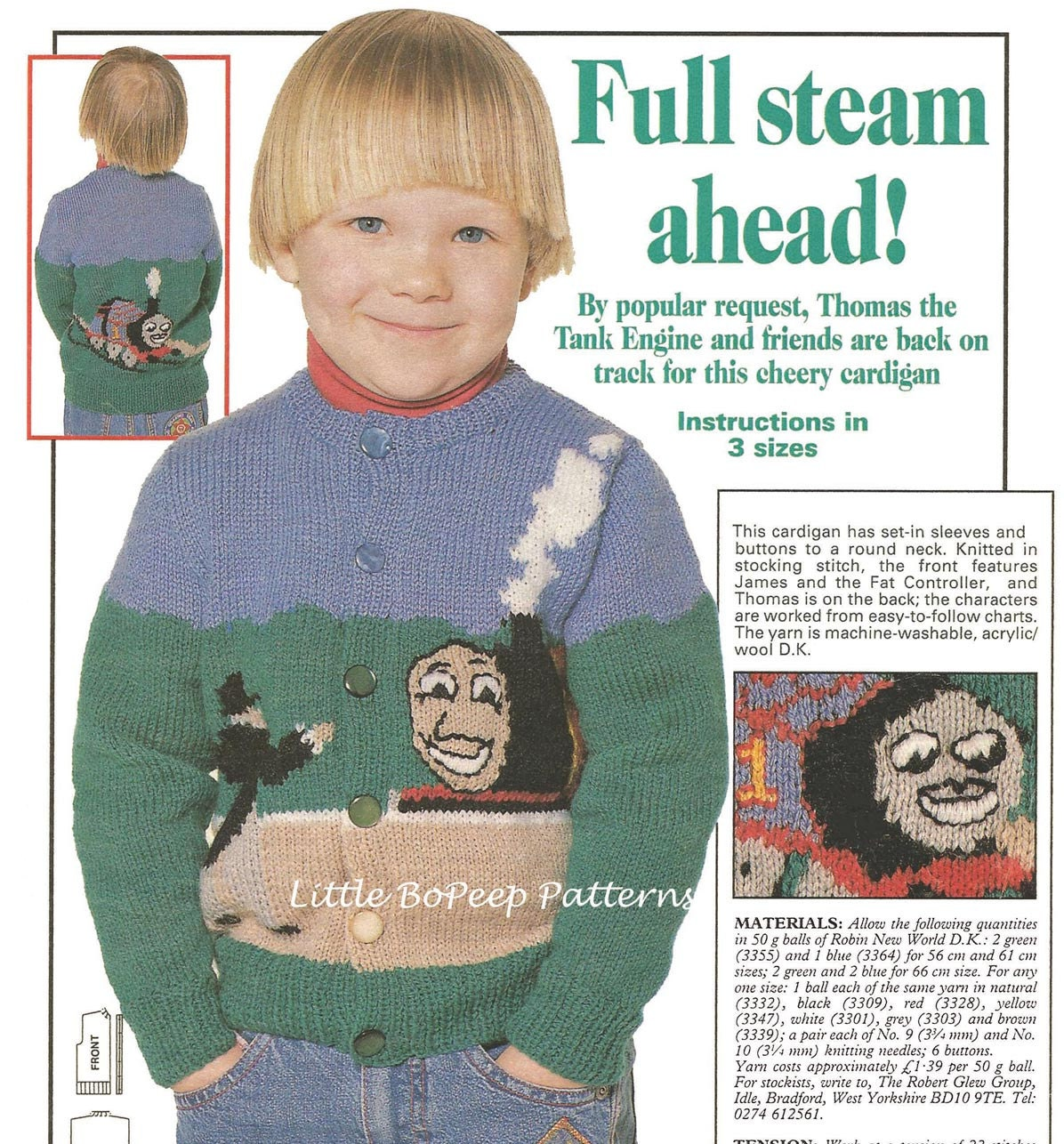 Thomas Knitting Pattern : Thomas The Tank Full Steam Ahead Knitting Pattern Childs