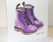 Purple Doc Martens Card
