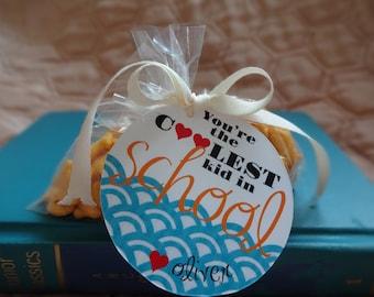 Valentine's Day. Kids Valentines. PRINTABLE Valentine Tags - Fish Crackers