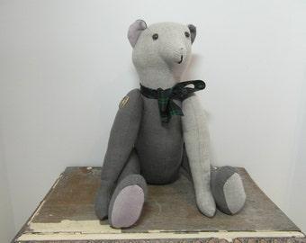 Linen teddy bear, teddy, teddy bear, room decor