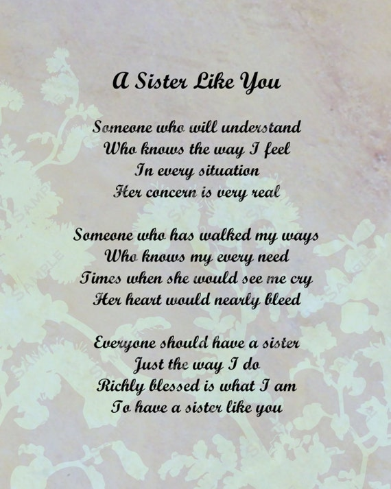 A sister just like you