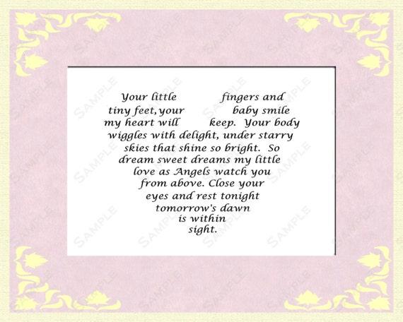 Baby Gift Poem : Items similar to love poem baby girl gift baptism