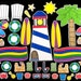 A Day at the Beach Deluxe Magnet Board Activity Set
