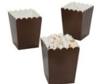 24 Mini brown popcorn boxes treat favors