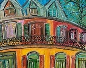 PRINT New Orleans Hotel, French Quarter Print of the original.