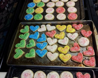 10% OFF - Heart Homemade Cream Cheese Butter Cookies w/ Buttercream Frosting (any color) - Use Coupon Code '10OFF'