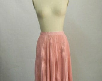 Chiffon Circle Skirt - Light Pink Pleaded Sunburst Skirt