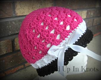 Crochet Katrina Ribbon Cloche Hat
