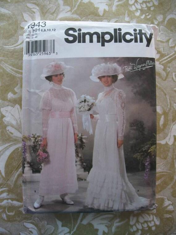 Simplicity Pattern 5943 Edwardian Wedding Dress Tea Gown