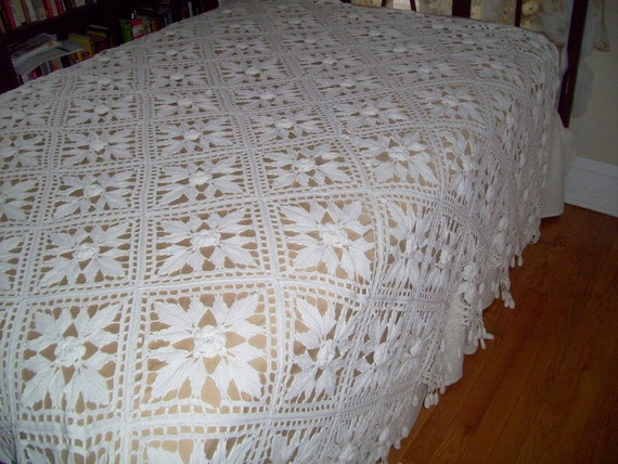 Crochet Bedspread For Sale