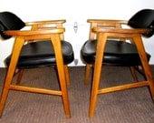 Mid Century Chairs, Vintage Danish Chairs, Murphy Miller Inc Chairs, Vintage Danish Modern Chairs - SALE 25%